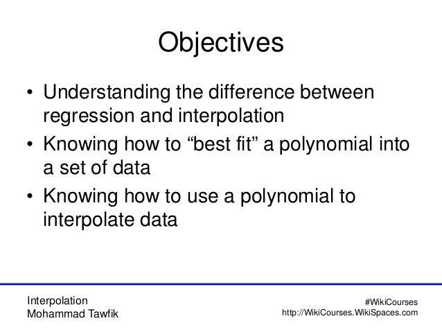 Interpolation Methods