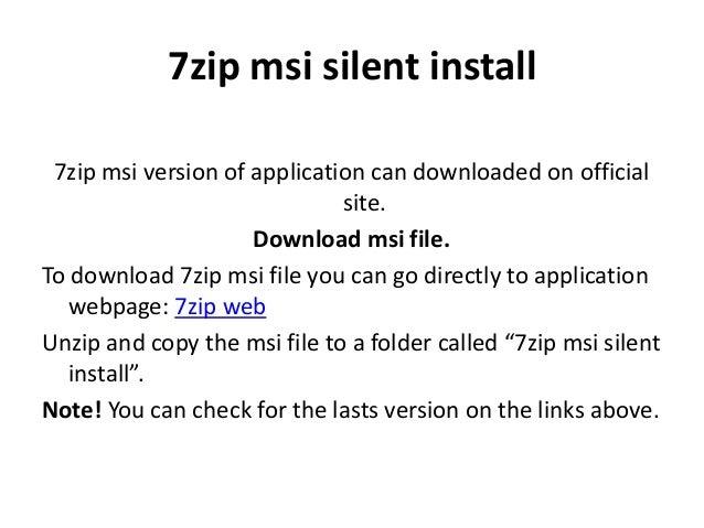 7zip Install Path