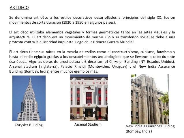 Modernismo y arquitectura - Art deco caracteristicas ...