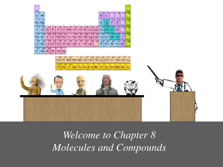 Welcome to Chapter 8 Molecules and Compounds