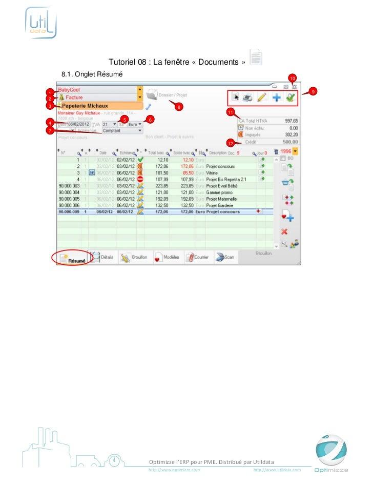 Tutoriel 08 : La fenêtre « Documents »    8.1. Onglet Résumé                                                              ...