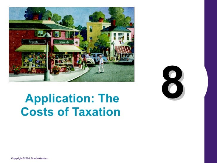 8 Application: The Costs of Taxation