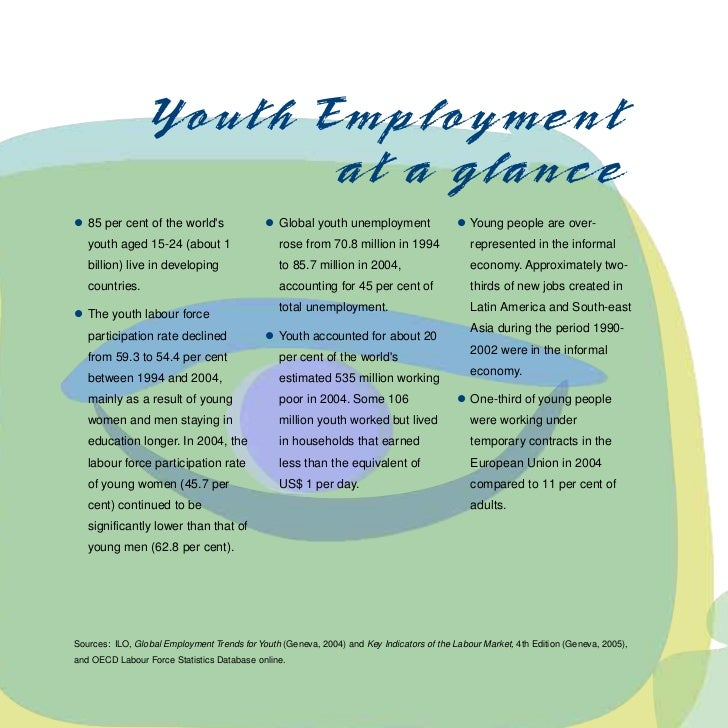 """""""Youth Employment- A Global Goal, A National Challenge"""" (ILO) 2006 Slide 2"""