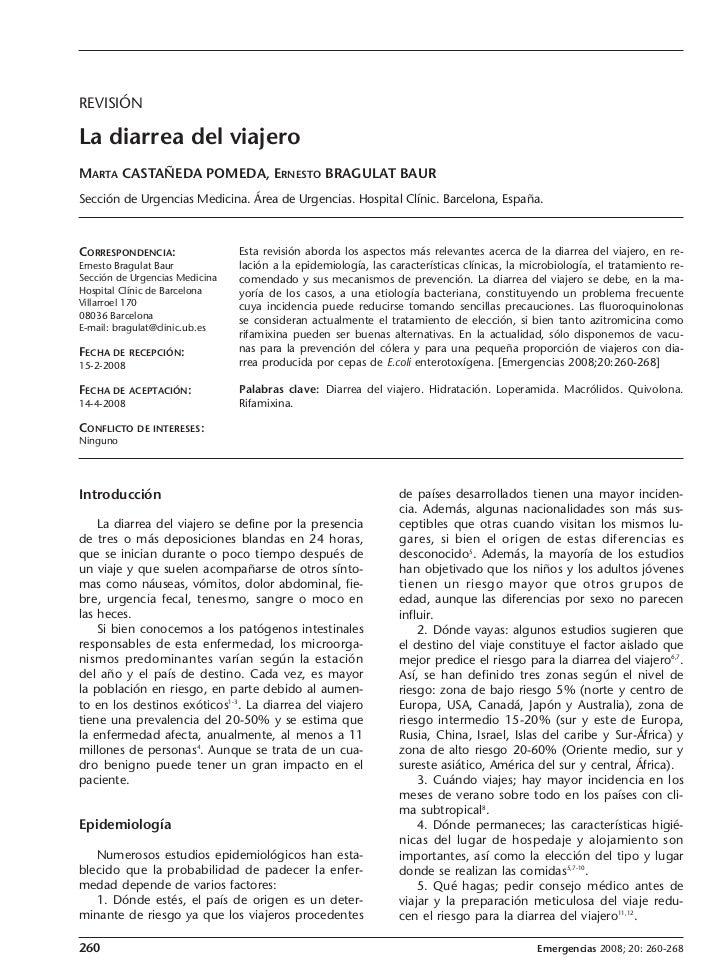 260-268C10-12430.EME-REVISION-Castañeda       24/6/08    12:04    Página 260              REVISIÓN              La diarrea...