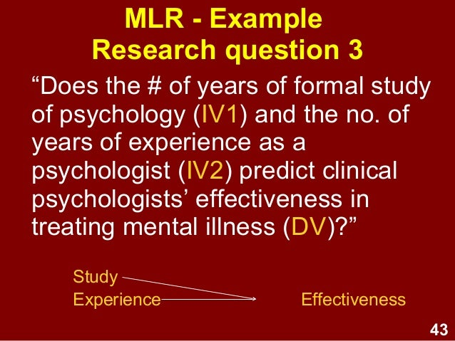 Linear Perspective Psychology Example Multiple linear regres...