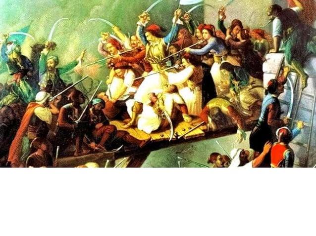► Οι Δυνάμεις (Αγγλία, Γαλλία και Ρωσία), παρακινημένες από δικούς τους λόγους,  αποφάσισαν (Συνθήκη του Λονδίνου, 6 Ιουλί...