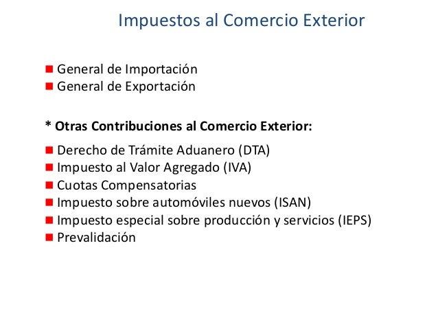 8 procedimiento importacion exportacion - Calculo de impuestos al comercio exterior ...