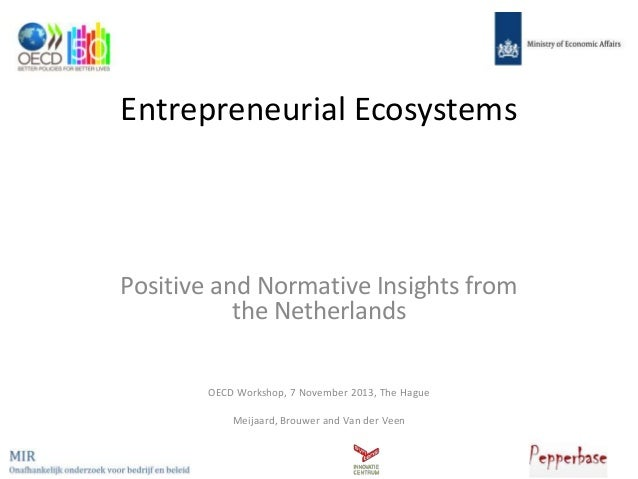 Entrepreneurial Ecosystems  Positive and Normative Insights from the Netherlands OECD Workshop, 7 November 2013, The Hague...