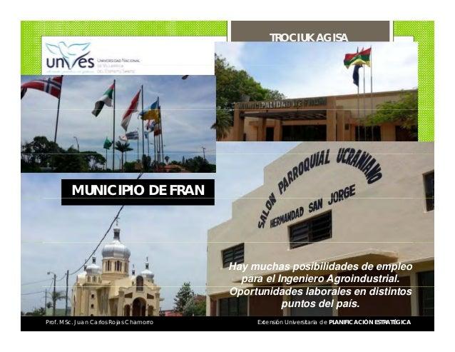 TROCIUK AGISA  MUNICIPIO DE FRAN  Hay muchas posibilidades de empleo para el Ingeniero Agroindustrial. Oportunidades labor...