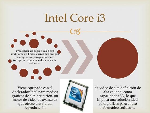 Intel Core i3  Procesador de doble núcleo con multitarea de 4 hilos cuenta con margen de ampliación para prestaciones inc...