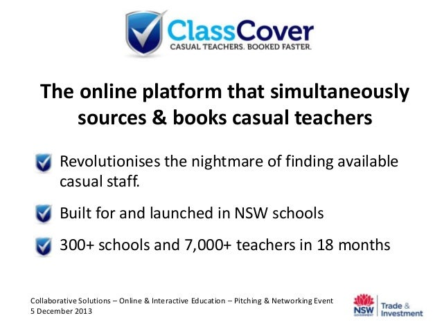 The online platform that simultaneously sources & books casual teachers  Revolutionises the nightmare of finding availabl...