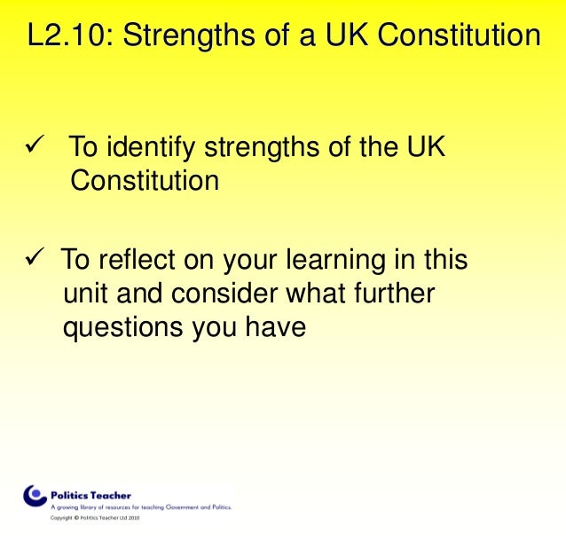 our constitution uk Human rights in the united kingdom are set out in common law, with its strongest roots being in the english bill of rights 1689 and scottish claim of right act 1689 [] it can hardly be said that our constitution knows of such a thing as any specific right of public meeting.