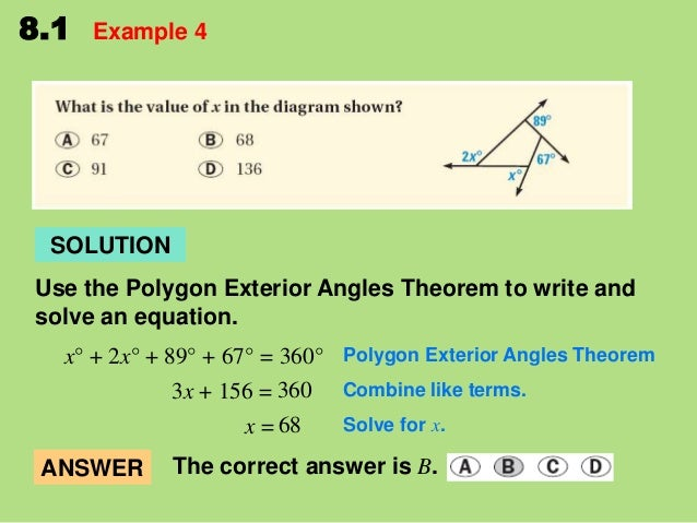 8 1 Find Angle Measures In Polygons