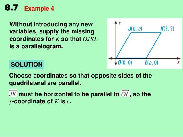 Lesson Proof of Opposite sides of a parallelogram are equal