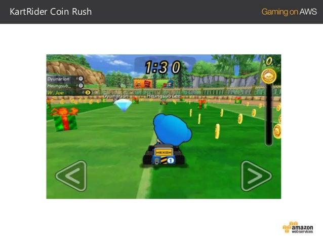 KartRider Coin Rush  카카오톡 플랫폼 모바일 게임 2012년 11월 런칭 서버 코드와 인프라는 KartRider Dash 기반으로 제작  비교적 짧은 개발기간