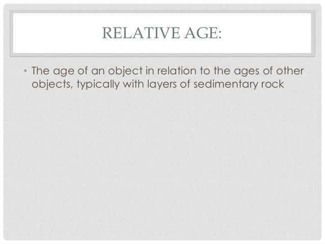 8. relative dating notes