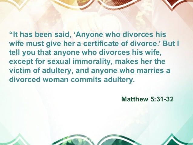 If a man marries a divorced woman