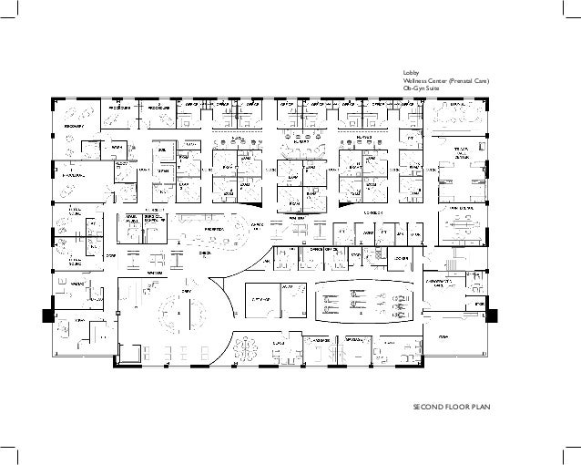 SECOND FLOOR PLAN Lobby Wellness Center (Prenatal Care) Ob-Gyn Suite