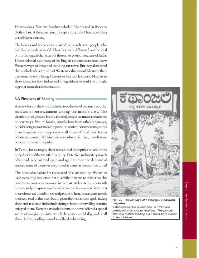 8  Novels, Society and History