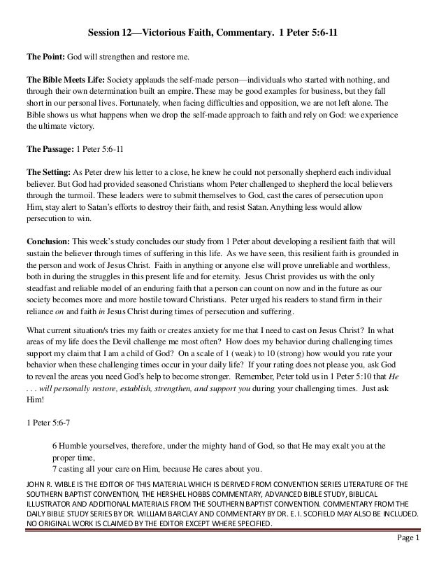 JOHN R. WIBLE IS THE EDITOR OF THIS MATERIAL WHICH IS DERIVED FROM CONVENTION SERIES LITERATURE OF THE SOUTHERN BAPTIST CO...