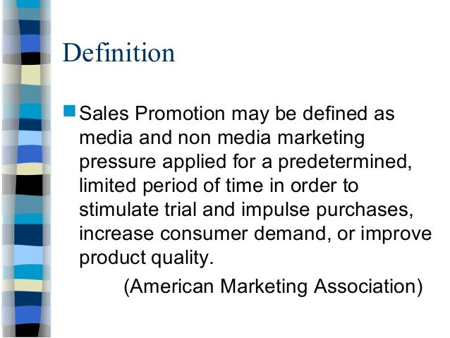 ufe0f what is the meaning of sales promotion  sales promotion