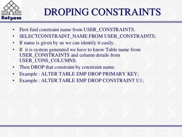 8 sql - Alter table drop constraint ...