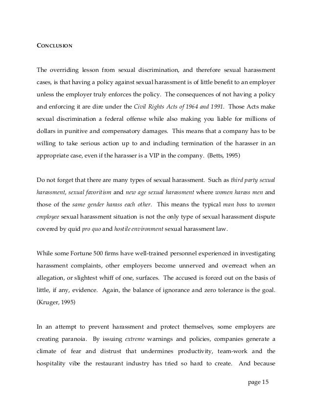 sexual harassment in restaurants 17 page