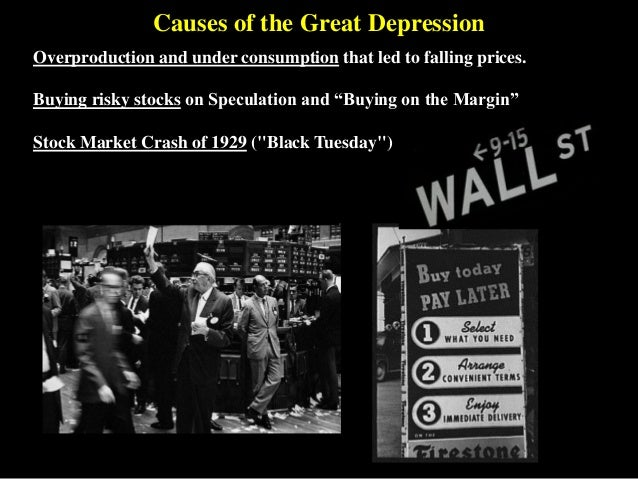an analysis of the results of the great depression in america Causes of the great depression of 1929-1939 there is no single cause or obvious set of factors that can explain why the depression occurred historians, economists and political scientists have come  america that emerged from the war as the world's real superpower.
