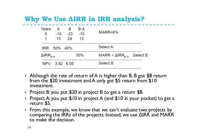 rate of return analysis pdf
