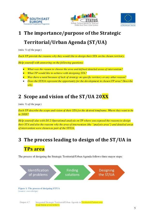 Status Strategic Agendas Template