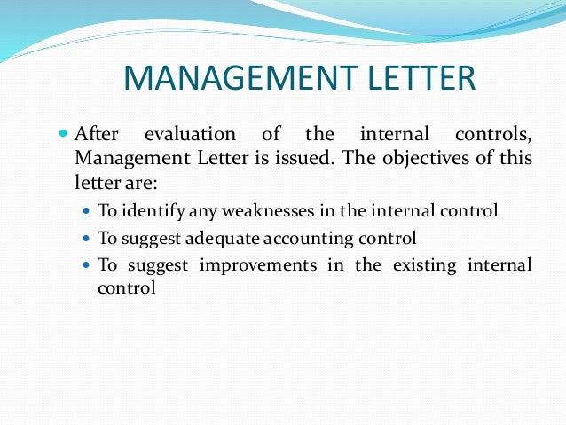 internal control new 23 management letter