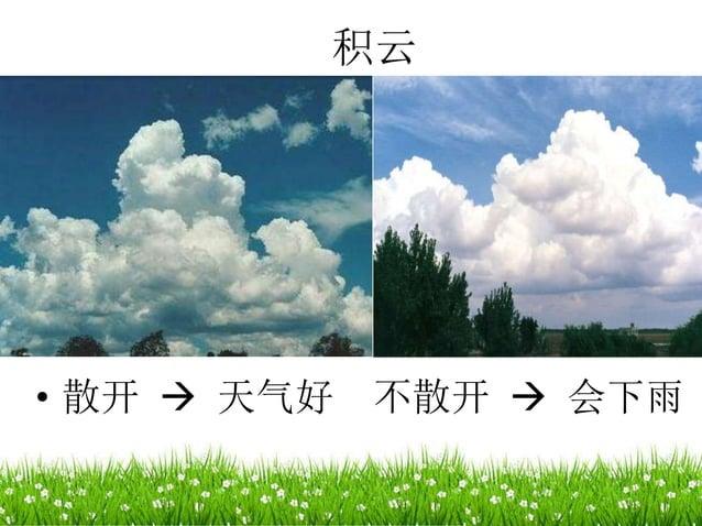 积云 • 散开  天气好 不散开  会下雨