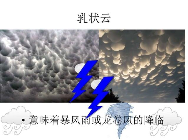 乳状云 • 意味着暴风雨或龙卷风的降临