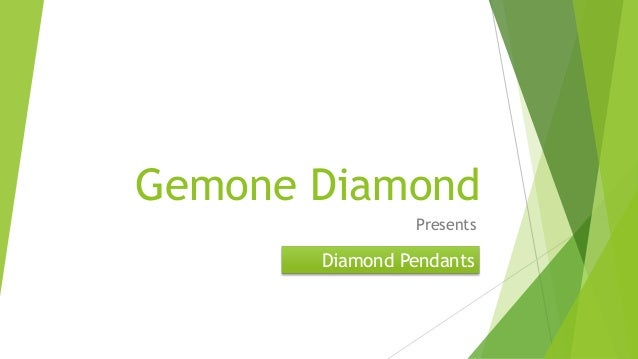 Gemone Diamond Presents Diamond Pendants
