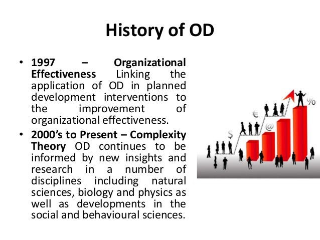 a history of organization development Abstract the problem: while the time and place of the birth of the academy of human resource development are docu- mented, the field of human resource development (hrd) has historical roots that began decades earlier with the emergence of training and development and organization development as fields.