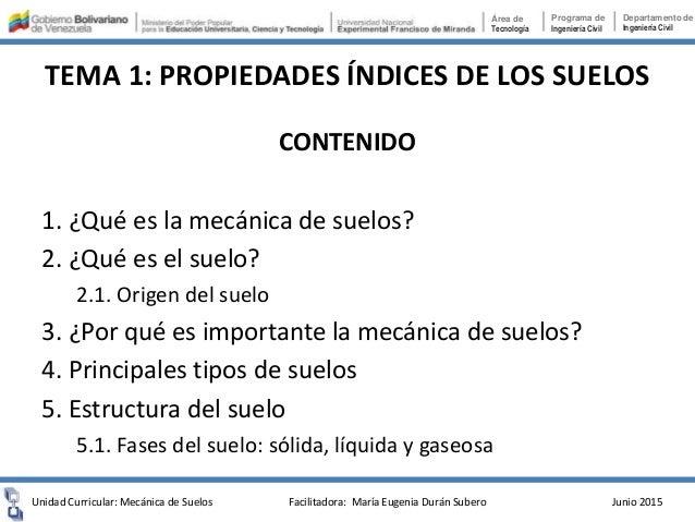 TEMA 1. PROPIEDADES ÍNDICES DE LOS SUELOS Slide 2
