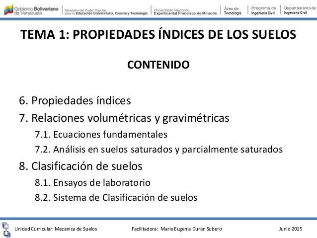 TEMA 1. PROPIEDADES ÍNDICES DE LOS SUELOS Slide 3