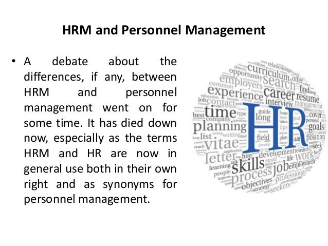 human resource management and personnel management