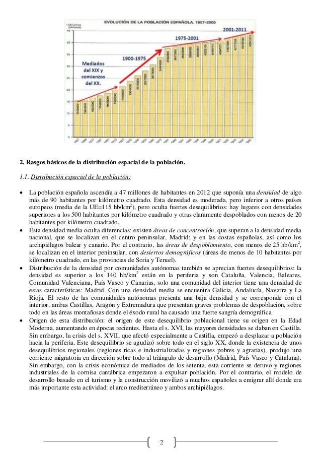 2 2. Rasgos básicos de la distribución espacial de la población. 1.1. Distribución espacial de la población: · La població...