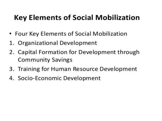 8.key elements of social mobilization  A Lecture By Mr.Allah dad Khan
