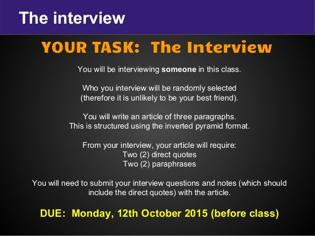 how to write an interview with someone famous