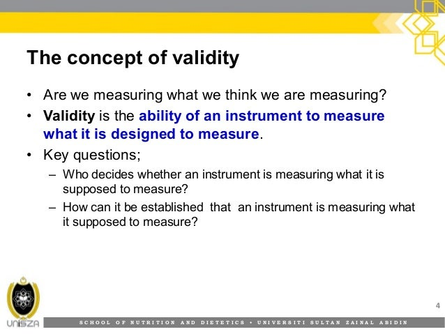 reliability and validity in quantitative research