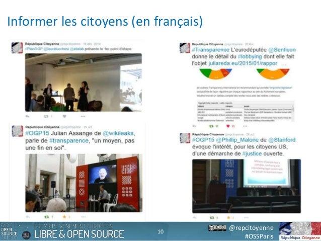 @repcitoyenne #OSSParis Informer les citoyens (en français) 10