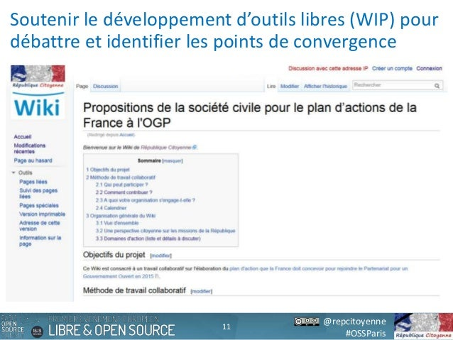 @repcitoyenne #OSSParis Soutenir le développement d'outils libres (WIP) pour débattre et identifier les points de converge...