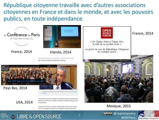 @repcitoyenne #OSSParis République citoyenne travaille avec d'autres associations citoyennes en France et dans le monde, e...