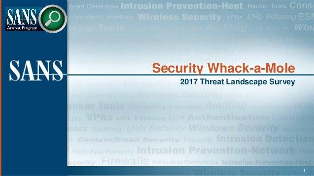 Security Whack-a-Mole 2017 Threat Landscape Survey 1