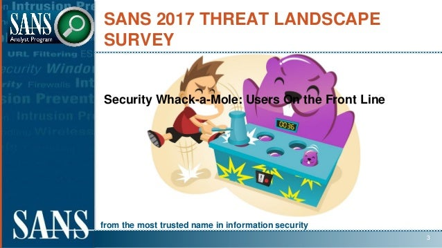 from the most trusted name in information security SANS 2017 THREAT LANDSCAPE SURVEY Security Whack-a-Mole: Users On the F...
