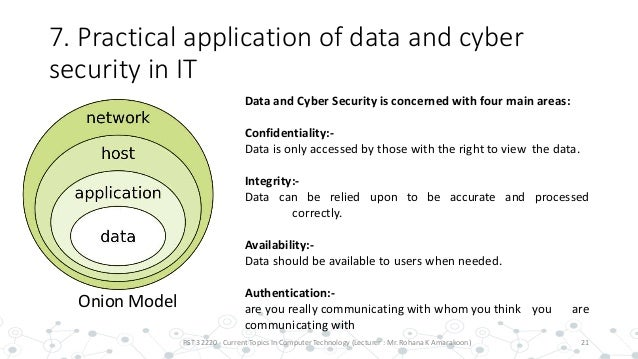 security in it (data and cyber security)
