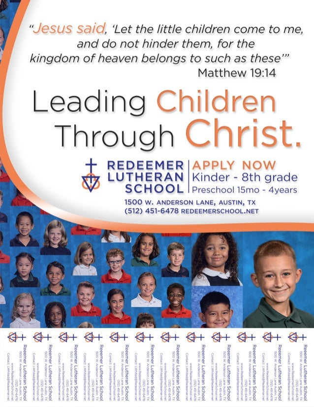 flyer with tear offs for private christian school enrollment