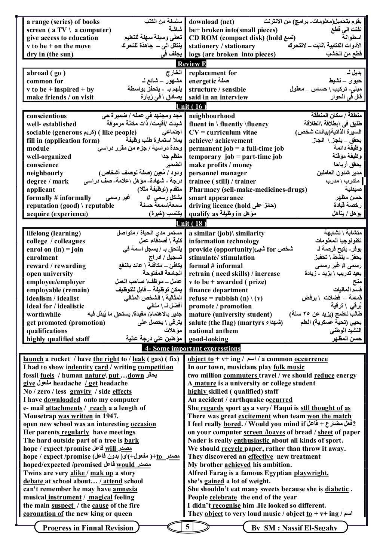 5Progress in Finnal Revision By SM : Nassif El-Segahy a range (series) of books اﻟﻜﺘﺐ ﻣﻦ ﺳﻠﺴﻠﺔ download (net) ﺑﺘﺤﻤﻴ...